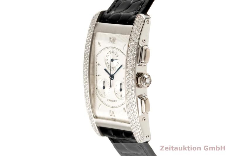 gebrauchte Luxusuhr Cartier Tank Américaine Chronograph 18k Weissgold Quarz Kal. 212P Ref. 2339  | 2005742 _0