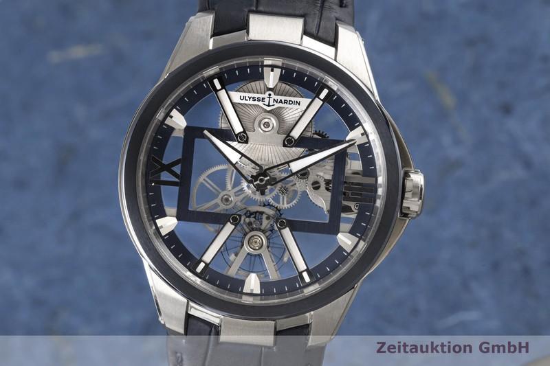 gebrauchte Luxusuhr Ulysse Nardin Executive Skeleton Titan Handaufzug Kal. UN371 Ref. 3713-260/03  | 2005773 _0