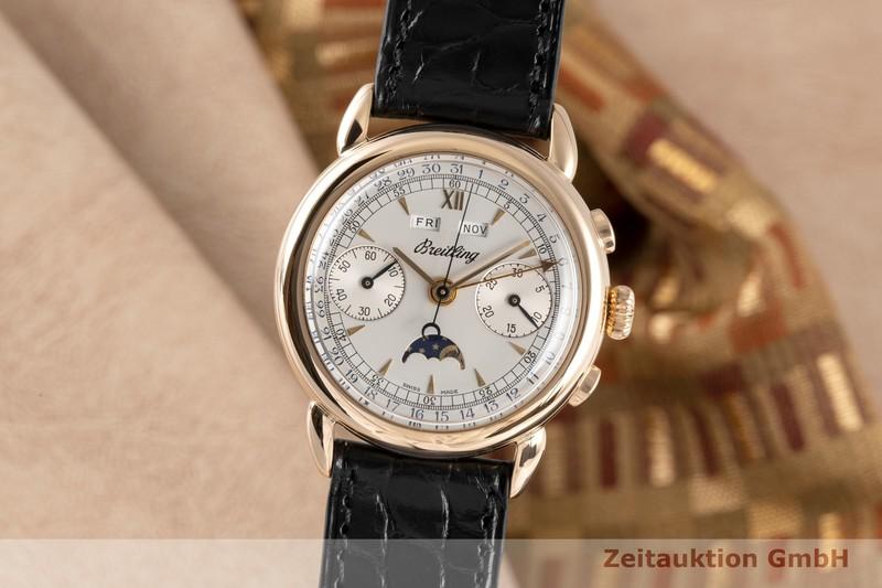 gebrauchte Luxusuhr Breitling Datora Chronograph 18k Rotgold Handaufzug Ref. 1939  | 2005963 _0