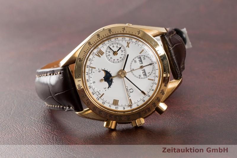 gebrauchte Luxusuhr Omega Speedmaster Chronograph 18k Gold Automatik Kal. 1150 Ref. 175.0034  | 2005979 _0