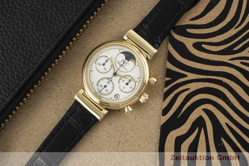 gebrauchte Luxusuhr IWC Da Vinci Chronograph 18k Gold Quarz Kal. 630/1 Ref. 3736  | 2006043 _0