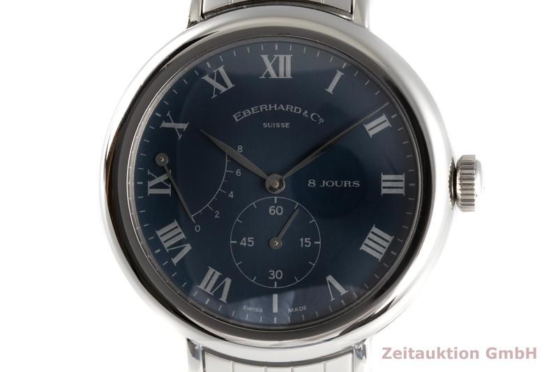 gebrauchte Luxusuhr Eberhard & Co 8 Jours Stahl Handaufzug Kal. CAL. 896-18J Ref. 21017  | 2006118 _0