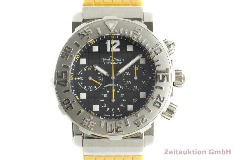 gebrauchte Luxusuhr Paul Picot Sport Chronograph Stahl Automatik Ref. 4116 LIMITED EDITION   2006120 _0