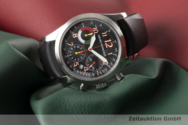 gebrauchte Luxusuhr Girard Perregaux Rallye Monte-Carlo Chronograph Stahl Automatik Kal. GP40C0 Ref. 49541 LIMITED EDITION   2006239 _0