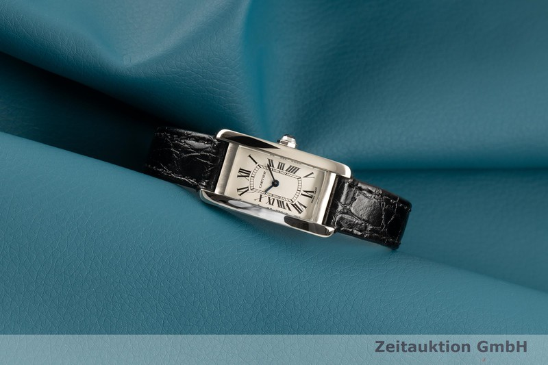 gebrauchte Luxusuhr Cartier Tank Américaine 18k Weissgold Quarz Kal. 157 Ref. 1713  | 2006300 _0