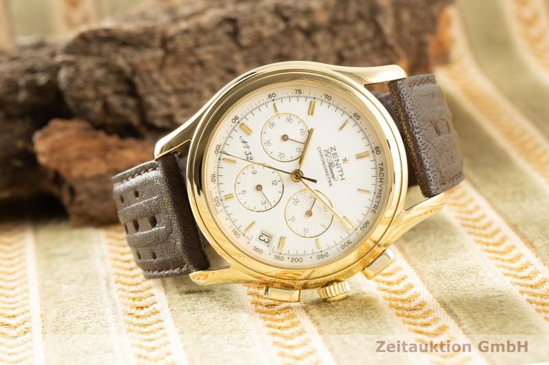 gebrauchte Luxusuhr Zenith El Primero Chronograph 18k Gold Automatik Kal. 400 Ref. 30.0220.400 LIMITED EDITION | 2006355 _0