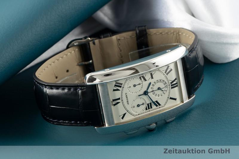 gebrauchte Luxusuhr Cartier Tank Américaine Chronograph 18k Weissgold Quarz Kal. 212P Ref. 2312  | 2006368 _0