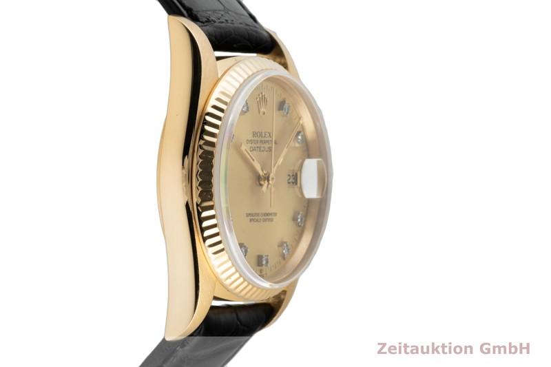 gebrauchte Luxusuhr Rolex Datejust 18k Gold Automatik Kal. 3035 Ref. 16018    2006383 _0