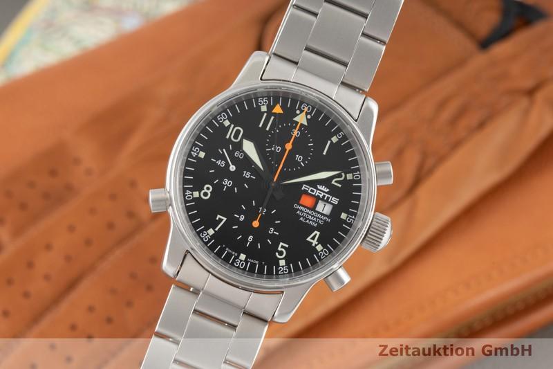 gebrauchte Luxusuhr Fortis Flieger Chronograph Chronograph Stahl Automatik Kal. F 2001 Ref. 599.10.170  | 2006556 _0