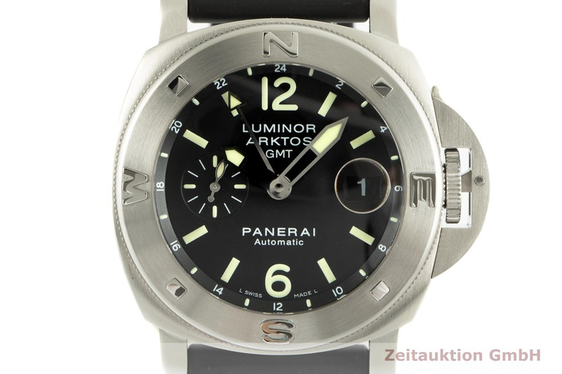 gebrauchte Luxusuhr Panerai Luminor GMT Stahl Automatik Kal. 7750-P2 Ref. OP6606, PAM00186 LIMITED EDITION   2006580 _0