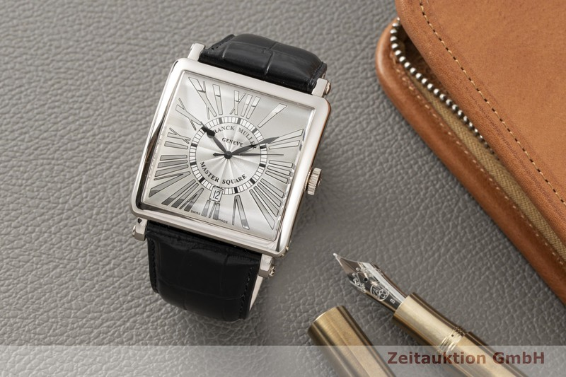 gebrauchte Luxusuhr Franck Muller Master Square 18k Weissgold Automatik Kal. FM 0800SC Ref. 6000KSCDT  | 2006602 _0
