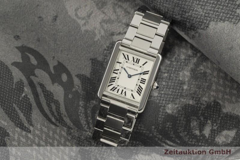 gebrauchte Luxusuhr Cartier Tank Stahl Quarz Kal. 690 Ref. 3169  | 2006680 _0
