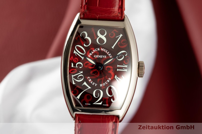 gebrauchte Luxusuhr Franck Muller Crazy Hours 18k Weissgold Automatik Kal. 2800V Ref. 5850    2006681 _0