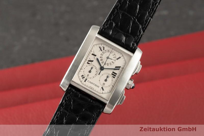 gebrauchte Luxusuhr Cartier Tank Francaise Chronograph Stahl Quarz Kal. 212P Ref. 2303    2006715 _0