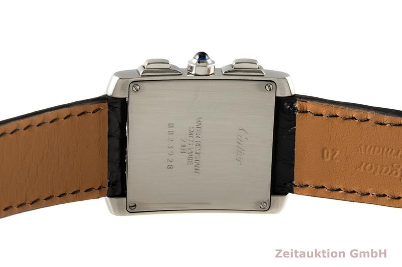 gebrauchte Luxusuhr Cartier Tank Francaise Chronograph Stahl Quarz Kal. 212P Ref. 2303    2006715 _1