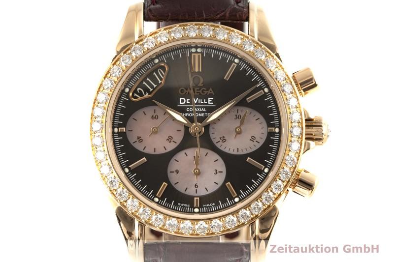 gebrauchte Luxusuhr Omega De Ville Chronograph 18k Gold Automatik Kal. 3313 Ref. 278.1711, 4677.60.37  | 2006817 _0