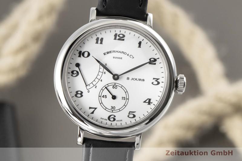 gebrauchte Luxusuhr Eberhard & Co 8 Jours Stahl Handaufzug Kal. 896-1, 8J Ref. 21017  | 2006827 _0