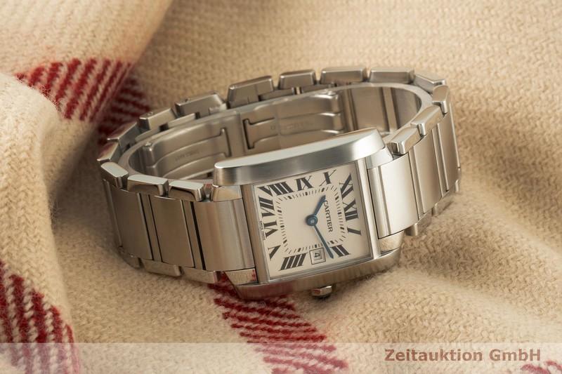 gebrauchte Luxusuhr Cartier Tank Francaise Stahl Quarz Kal. 175A Ref. 2465  | 2006844 _0