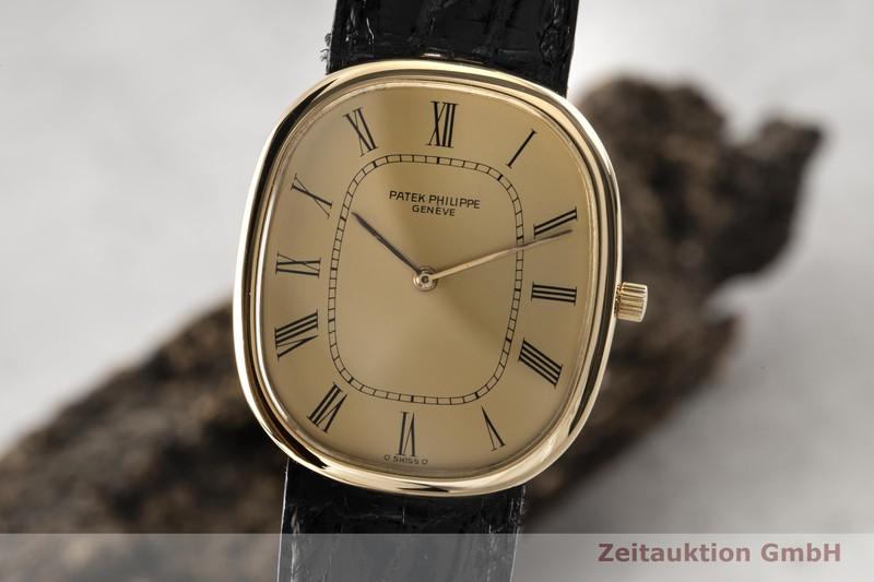 gebrauchte Luxusuhr Patek Philippe Ellipse 18k Gold Automatik Kal. 240 Ref. 3738    2006905 _0