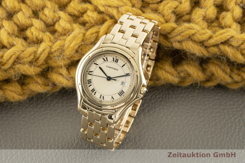 gebrauchte Luxusuhr Cartier Cougar 18k Gold Quarz Kal. 687 Ref. 887904    2006977 _0