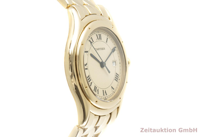 gebrauchte Luxusuhr Cartier Cougar 18k Gold Quarz Kal. 687 Ref. 887904  | 2006977 _0