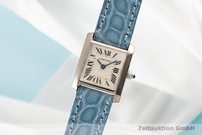 gebrauchte Luxusuhr Cartier Tank Francaise 18k Weissgold Quarz Kal. 057 Ref. 2403    2007032 _0