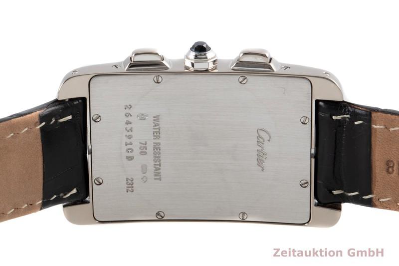 gebrauchte Luxusuhr Cartier Tank Américaine Chronograph 18k Weissgold Quarz Kal. 212P Ref. 2312  | 2007071 _1