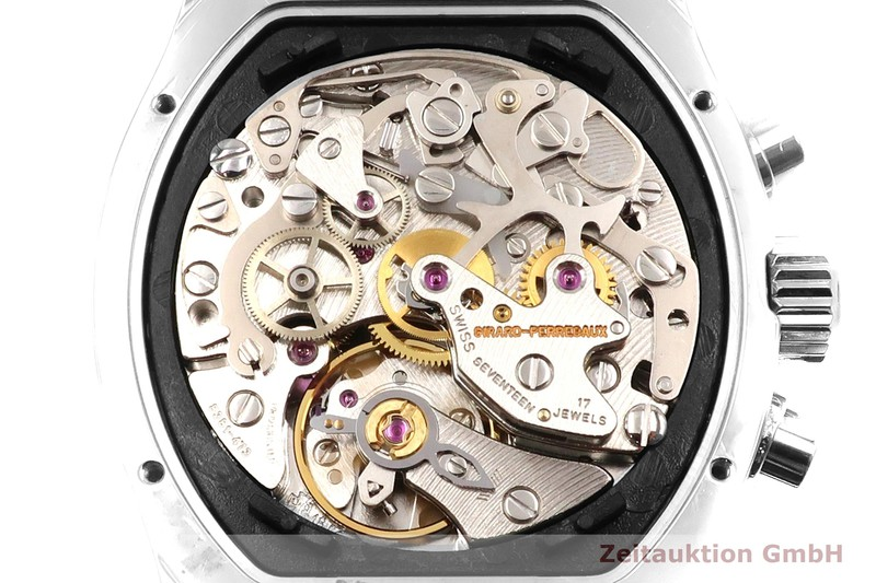 gebrauchte Luxusuhr Girard Perregaux Richeville Chronograph Stahl Handaufzug Kal. 8381-473 Ref. 2710    2007132 _1