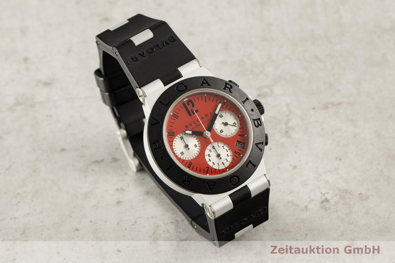 gebrauchte Luxusuhr Bvlgari Diagono Chronograph Aluminium Automatik Kal. 080 TEEA Ref. AC38TA LIMITED EDITION | 2007149 _0
