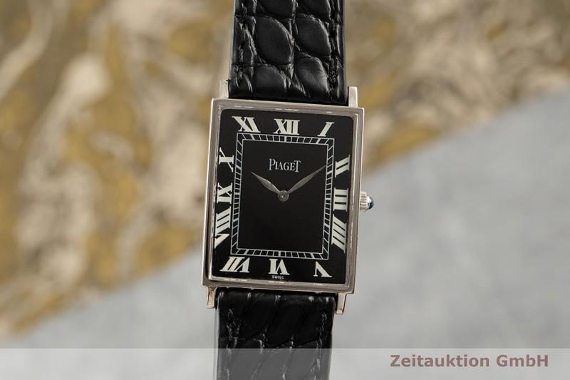 gebrauchte Luxusuhr Piaget Rectangle 18k Weissgold Handaufzug Kal. 9P Ref. 9211  | 2007247 _0