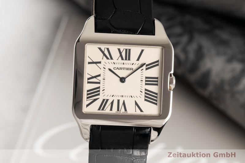 gebrauchte Luxusuhr Cartier Santos Dumont 18k Weissgold Handaufzug Kal. 430 MC Ref. 2651  | 2007336 _0
