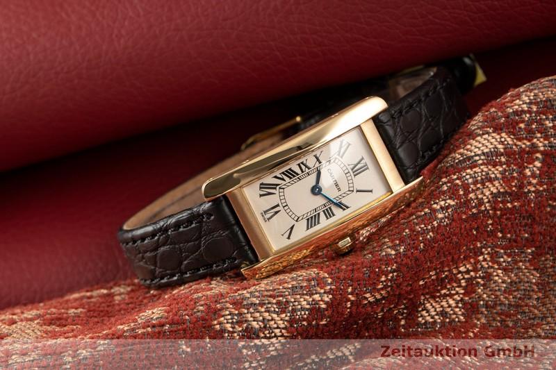 gebrauchte Luxusuhr Cartier Tank Américaine 18k Gold Quarz Kal. 157.06 Ref. 1710/W2601556    2007361 _0