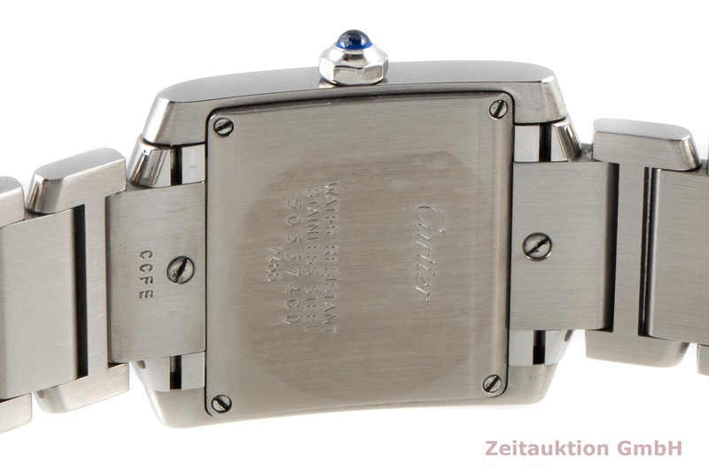 gebrauchte Luxusuhr Cartier Tank Francaise Stahl Quarz Kal. 175A Ref. 2465    2007362 _1