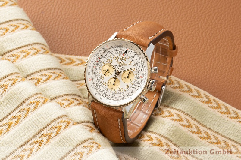 gebrauchte Luxusuhr Breitling Navitimer Cosmonaute Chronograph Stahl / Gold Handaufzug Kal. LWO 1873/24 Ref. D12322  | 2007364 _0