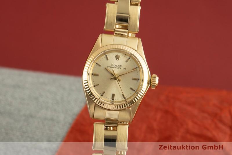 gebrauchte Luxusuhr Rolex Oyster Perpetual 18k Gold Automatik Kal. 1160 Ref. 6619 VINTAGE  | 2007427 _0