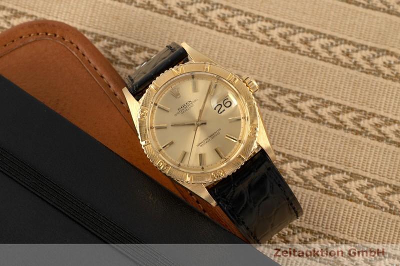gebrauchte Luxusuhr Rolex Datejust 18k Gold Automatik Kal. 1050 Ref. 6609 VINTAGE  | 2007451 _0