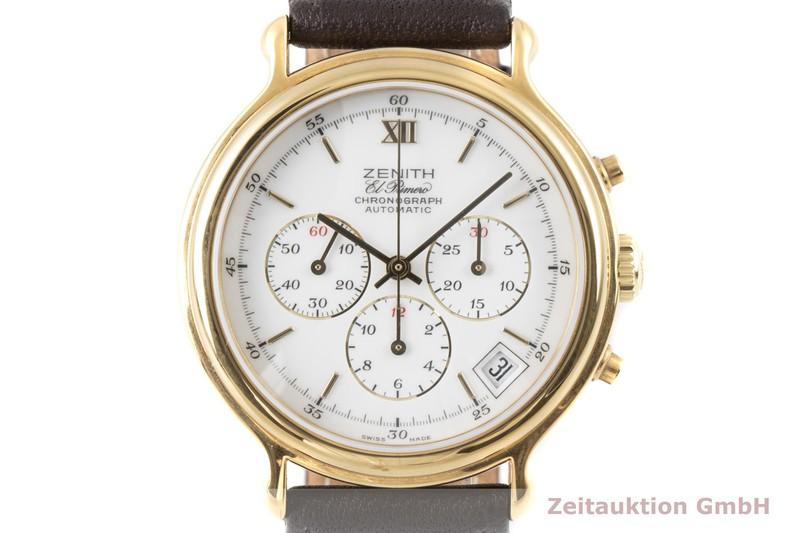 gebrauchte Luxusuhr Zenith El Primero Chronograph vergoldet Automatik Kal. 400 Ref. 20.0020.400    2007466 _0
