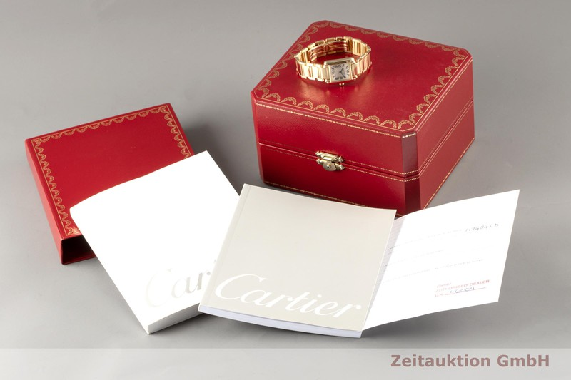 gebrauchte Luxusuhr Cartier Tank Francaise 18k Gold Quarz Kal. 057 Ref. 2385  | 2007468 _0