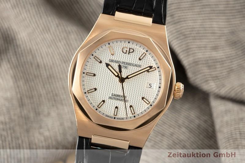 gebrauchte Luxusuhr Girard Perregaux Laureato 18k Gold Automatik Kal. GP3300 Ref. 81005-52-132-BB6A    2007488 _0