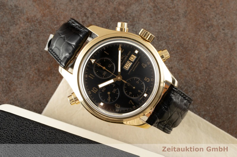 gebrauchte Luxusuhr IWC Doppelchronograph Chronograph 18k Gold Automatik Kal. 79030 Ref. 3711  | 2007531 _0