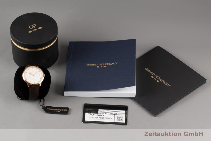 gebrauchte Luxusuhr Girard Perregaux 1966 18k Rotgold Automatik Kal. 4590 Ref. 49543-52-131-BKBA  | 2007548 _0