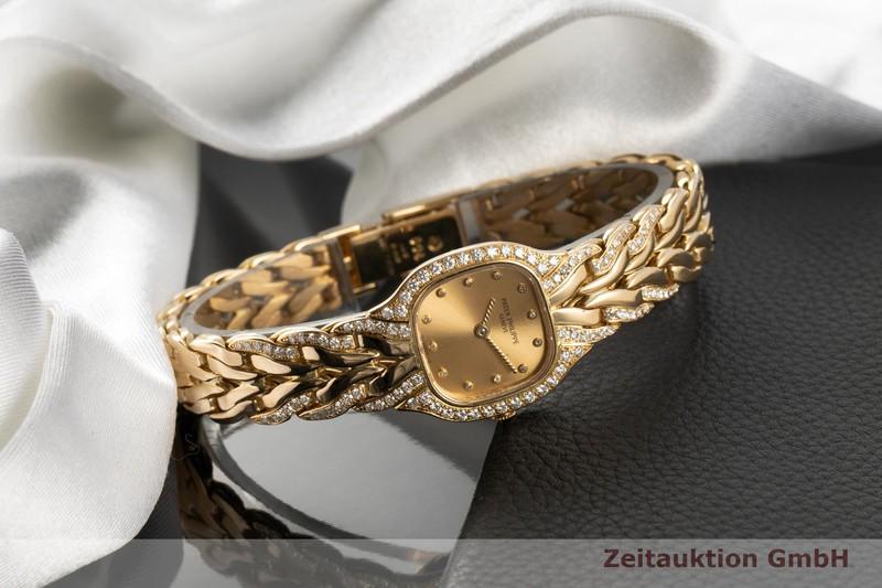 gebrauchte Luxusuhr Patek Philippe La Flamme 18k Gold Quarz Kal. E15 Ref. 4715/3    2007569 _0