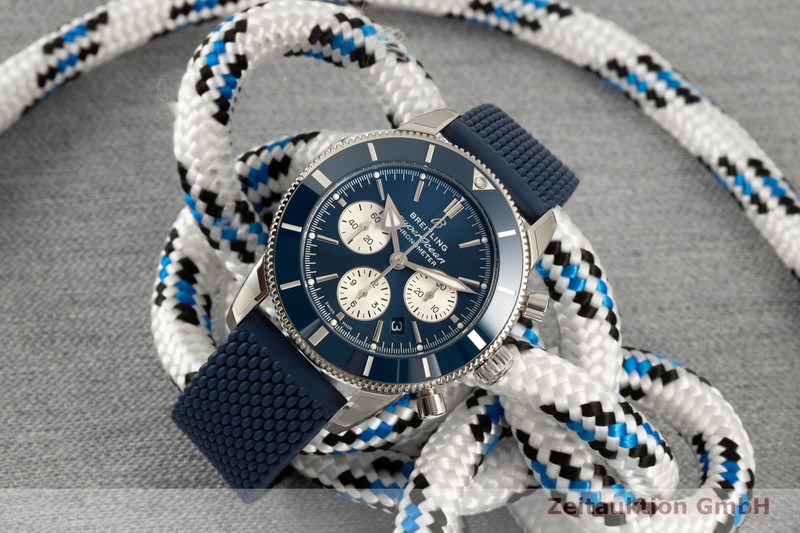 gebrauchte Luxusuhr Breitling Superocean Chronograph Chronograph Stahl Automatik Kal. B01 Ref. AB0162  | 2007583 _0