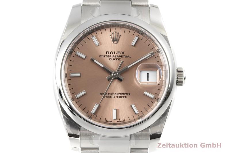 gebrauchte Luxusuhr Rolex Date Stahl Automatik Kal. 3135 Ref. 115200    2007626 _0