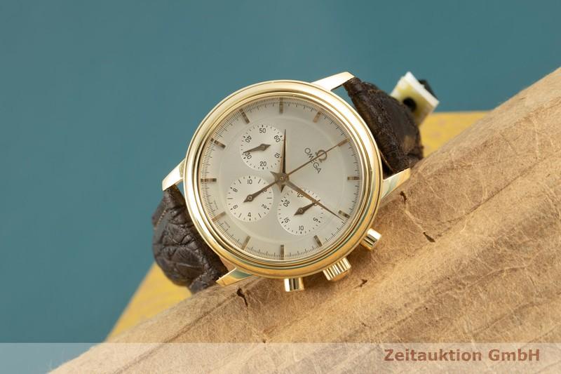 gebrauchte Luxusuhr Omega De Ville Chronograph 18k Gold Handaufzug Kal. 861 Ref. 4640.31.00, 345.0050,145.0050 VINTAGE  | 2007656 _0