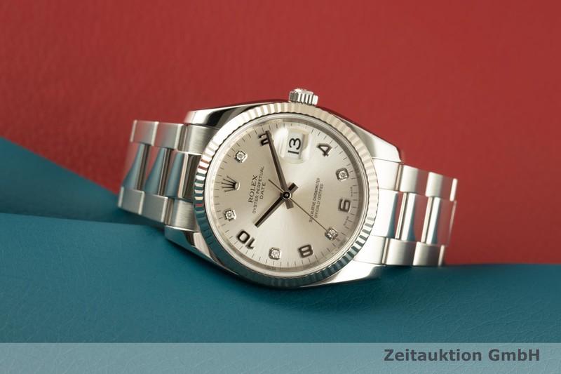 gebrauchte Luxusuhr Rolex Date Stahl / Weissgold Automatik Kal. 3135 Ref. 115234  | 2007734 _0