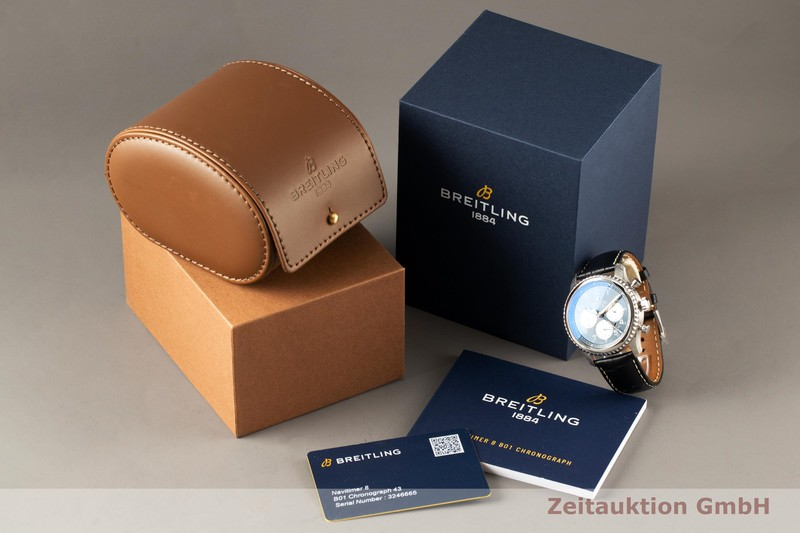 gebrauchte Luxusuhr Breitling Navitimer Chronograph Stahl Automatik Kal. B01 Ref. AB0117  | 2007742 _0