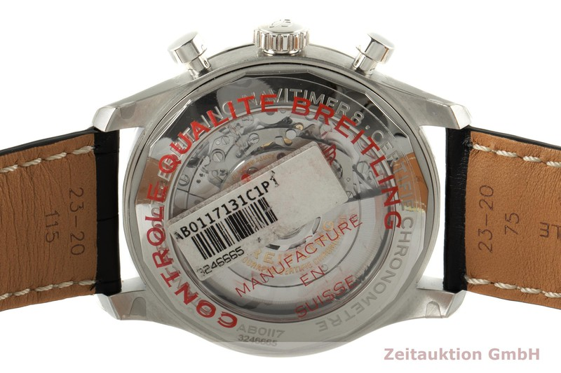 gebrauchte Luxusuhr Breitling Navitimer Chronograph Stahl Automatik Kal. B01 Ref. AB0117  | 2007742 _1