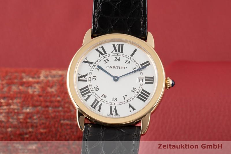 gebrauchte Luxusuhr Cartier Ronde Solo 18k Gold Quarz Kal. 115A Ref. 2988  | 2007773 _0