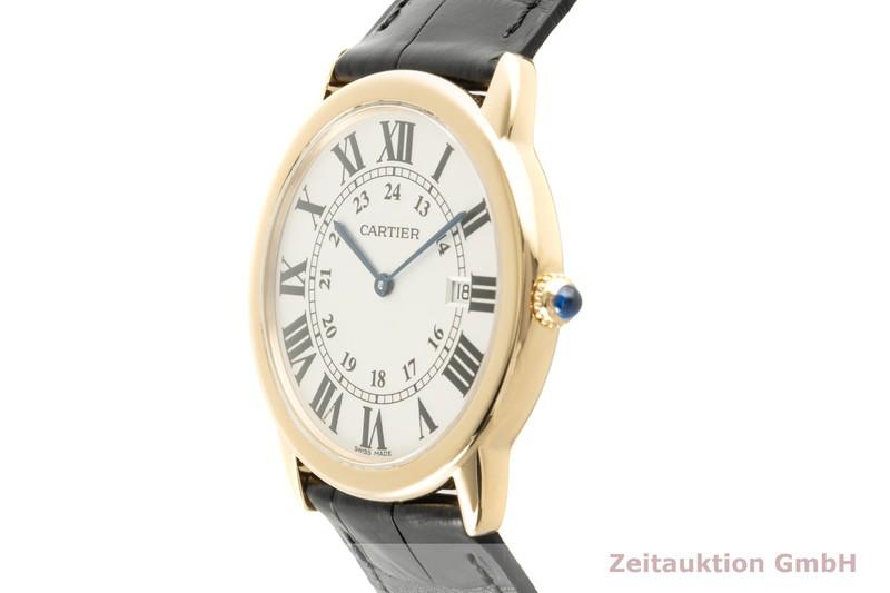 gebrauchte Luxusuhr Cartier Ronde Solo 18k Gold Quarz Kal. 115A Ref. W6700455, 2988    2100049 _0